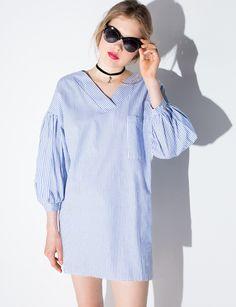Stripe Long Sleeve Tunic $62.00