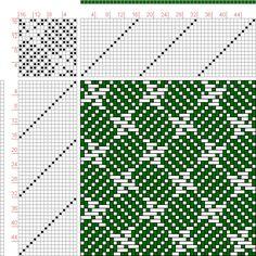 draft image: Page Figure Bindungs-Lexikon für Schaftweberei, Franz Donat… Tablet Weaving, Loom Weaving, Hand Weaving, Weaving Techniques, Embroidery Techniques, Knitting Charts, Knitting Patterns, Crochet Patterns, Dobby Fabric