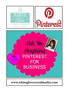 Post any questions you have about PINTEREST FOR BUSINESS in the comment box. Please read the board description on how you'll receive FREE Pinterest coaching right here!
