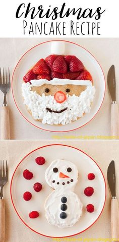 Christmas Pancakes — Doodle and Stitch 65 Merry Christmas Breakfast Ideas: Holiday Foods - Joy Pea Health Christmas Morning Breakfast, Christmas Brunch, Christmas Goodies, Christmas Desserts, Holiday Treats, Christmas Treats, Christmas Baking, Holiday Recipes, Holiday Foods