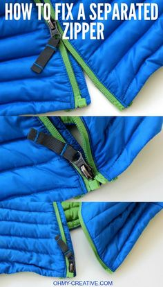 How to Fix a Separated Zipper - with this simple trick, using a common household product, it can be easy to repair a zipper with little effort! | OHMY-CREATIVE.COM