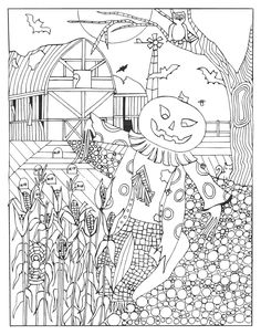Halloween Coloring Page From Haunted Treasure Hunt By Julia Abby Thomas Amazon