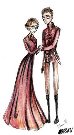 If Tim Burton Drew Game of Thrones -Cersei and Jaime