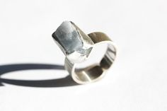 silver - agat  ring