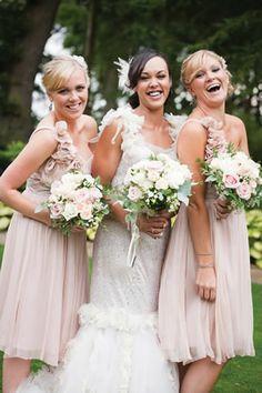 a bride + her maids ;)