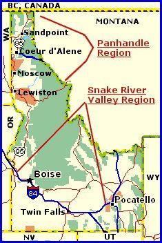 Idaho Wine Regions