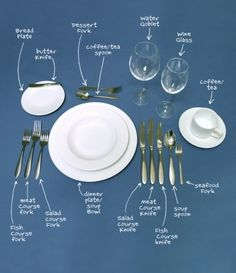 How to set a proper table, I NEVER REMEMBER (fork vs knife vs spoon. Don't even talk to me about the rest)