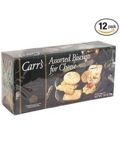 Carr's Assorted Biscuits for Cheese, Nine Varieties, 7.05-Ounce Boxes