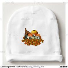 #Cornucopia with Fall Gourds #BabyBeanie by #Fall_Seasons_Best #Zazzle #Gravityx9 Designs -