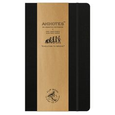 Evolution to Groove - Aninotes. A really fun take on evolution from Aninote Notebooks. 240 Lined Pages. Acid free paper. £9.50 free UK delivery.