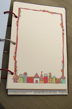 journalling idea. Print out a bunch of doodled borders on different papers to kickstart your journal