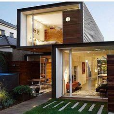 Modern Contemporary Home Design Facade of The Day -- #TagAFriend -- Follow @homemakeovers_
