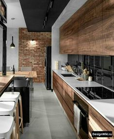 Home Kitchen Design Apartment Kitchen cabinet House Countertop Room Apartment Kitchen, Apartment Interior, Home Decor Kitchen, Home Interior, Kitchen Ideas, Kitchen Lamps, Kitchen Inspiration, Apartment Design, Interior Modern