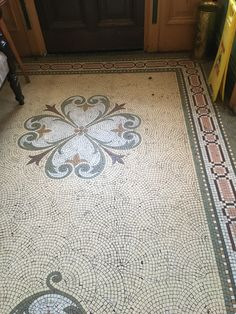 Victorian house restoration and period property DIY tips. Victorian Tiles, Antique Tiles, Victorian Interiors, New Ravenna, Mosaic Diy, Mosaic Ideas, Encaustic Tile, Rubber Flooring, Stone Mosaic
