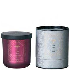 FRÖJD Candle- Violet linen glass purple M