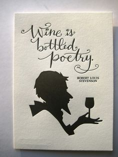 LETTERPRESS ART PRINTWine is bottled poetry by tagteamtompkins, $8.00