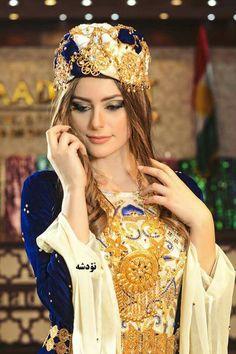 Kurdish girl in traditional Kurdish clothes