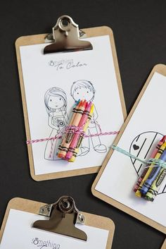 coloring project for wedding favor for kids