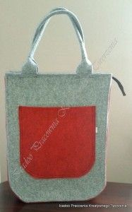 Filcowa torebka seria big zamykana na zamek