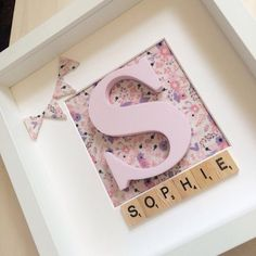 Personalised name frame by Uniquelittlelovebox on Etsy