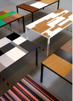 Dining Tables by Vibeke Fonnesberg Schmidt 2 Fun Dining Room Decor with colorful furniture pieces