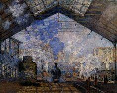 Claude Monet (1840-1926) -- La Gare Saint-Lazarre