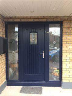 """Palladio Composite """"T&G"""" Door in Blue"""