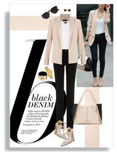 """""""Denim Trend: Black Jeans"""" by leslee-dawn ❤ liked on Polyvore featuring Nico, Topshop, Lipsy, Lacoste, Yves Saint Laurent, Christian Dior, Bling Jewelry, 7 For All Mankind, women's clothing and women"""
