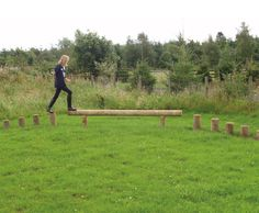 The Horse Shoe is made up of a balance beam with five stepping log columns at either end. This productworks well alongside other products as part of an agility trail or is a nice product on its own as a play feature in a rural setting. The standard length of balance beam is 3.0m however …