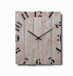 White wall clock, Home decor, Original clock, Hand made clock, Wooden clock, design clock, clock, rustic clock