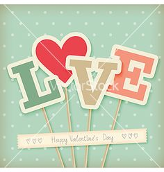 Valentines day card vector love typography - by aviany on VectorStock®