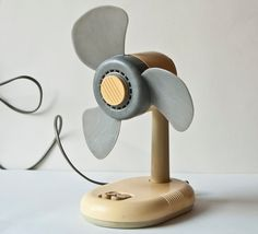 Vintage electric fan little, tabletop desk fan, ventilator, Soviet era. $29.00, via Etsy.