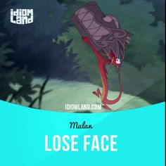"""""""Lose face"""" means """"to be embarrassed or humiliated"""". Usage in an animated film (""""Mulan""""): - Go. The fate of the Fa family rests in your claws. - Don't even worry about it. I will not lose face. #idiom #idioms #slang #saying #sayings #phrase #phrases #expression #expressions #english #englishlanguage #learnenglish #studyenglish #language #vocabulary #efl #esl #tesl #tefl #toefl #ielts #toeic #mulan"""