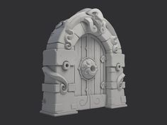 Dungeon Gate, Nikita Novikov on ArtStation at https://www.artstation.com/artwork/NeBlP
