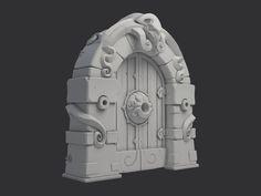 Dungeon Gate, Nikita Novikov on ArtStation at https://www.artstation.com/artwork/NeBlP