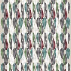 Blader-stoffet fra det svenske tekstilvaremerket Arvidssons Textil har et herlig retroinspirert mønster i forskjellige fargekombinasjoner. Mønsteret er designet av Louise Videlyck og vil gjøre seg veldig godt hjemme hos deg. Stoffet er laget av bomull med en herlig struktur.