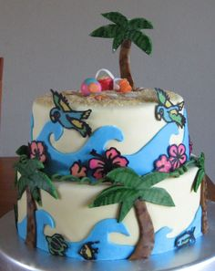 Luau Cake idea