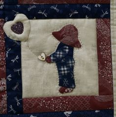Fotky | Bellet Sunbonnet Sue, Burlap, Reusable Tote Bags, Quilts, Hessian Fabric, Quilt Sets, Log Cabin Quilts, Quilting, Quilt