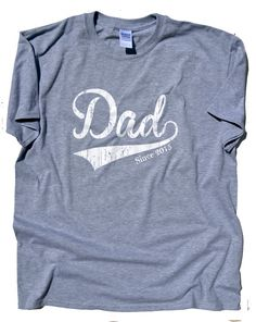 Dad Since 2015 T-Shirt.  New Father gift.  new Dad Gift Baby Shower Gift. 1st Father's Day gift