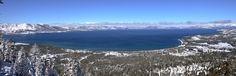 Lake Tahoe @Heavenly ski resort, the view of the lake is incredible!  Great skiing too !