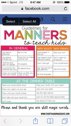 Manners Parenting 101, Parenting Styles, Single Parenting, Raising Kids, Raising Boys Quotes, Teaching Manners, Manners Kids, Teaching Kids Respect, Table Manners