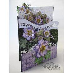 Heartfelt Creations - Cascading Lavender Blooms Foldout Card Project
