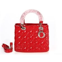 Dior Lady Dior Patent Leather Cannage Bag - Red  179.00 2e2a487ddfd49