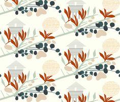 'Saari' custom made fabric design by English/Finnish designer Mirjamauno, © 2015