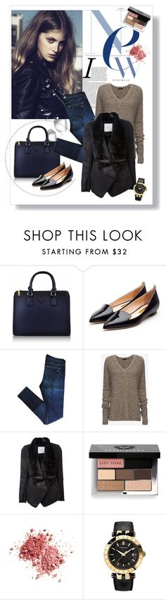 """""""Untitled #2167"""" by ladydelicat ❤ liked on Polyvore featuring Rupert Sanderson, rag & bone, ATM by Anthony Thomas Melillo, Pinko, Bobbi Brown Cosmetics and Versace"""