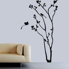 Floral Tree N Birds Wall Decal by ColorfulWalls on Etsy