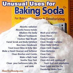 Natural cures and handy uses for baking soda: http://www.naturalcuresnotmedicine.com/2013/05/the-many-uses-of-baking-soda.html