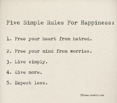 the five simple steps
