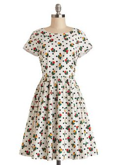 Two-Steppin' Out Dress. Say, youre looking mighty chipper! #multi #modcloth