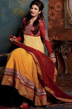 Indian Dress Designs   Raveena Tondon Party Wear Summer 2013 Indian Dresses Designs Fashion
